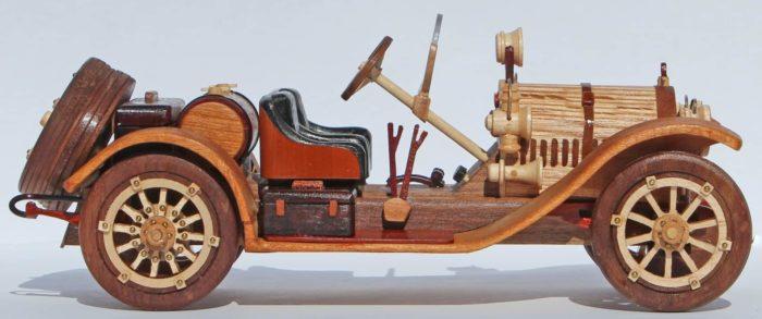 Stutz Bearcat vintage automobile woodworking plan for a popular classic auto
