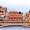 1835 Locomotive three car train and trestle woodworking plan