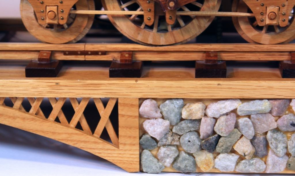 Tretle section detailed in the woodworking plan for the 1835 Locomotive