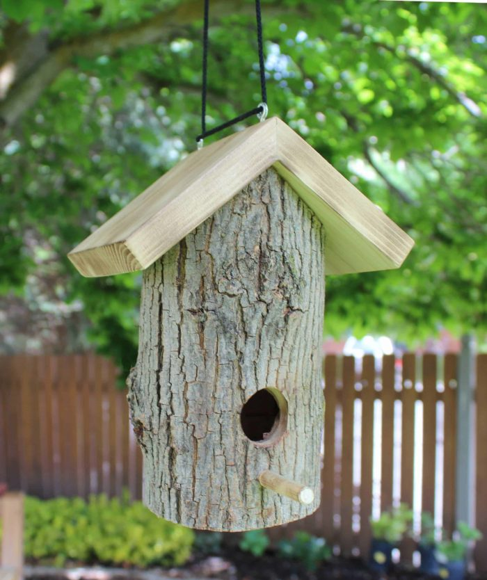 Birdhouse from plans for building four bird structures