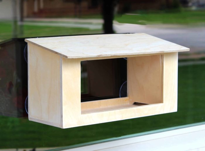 One of four bird structures from woodworking plans
