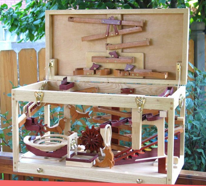 Closes to a compact, easy to move project. A leading selling woodworking plan