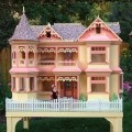 Victorian Barbie House woodworking plan with ample patterns to complete the project