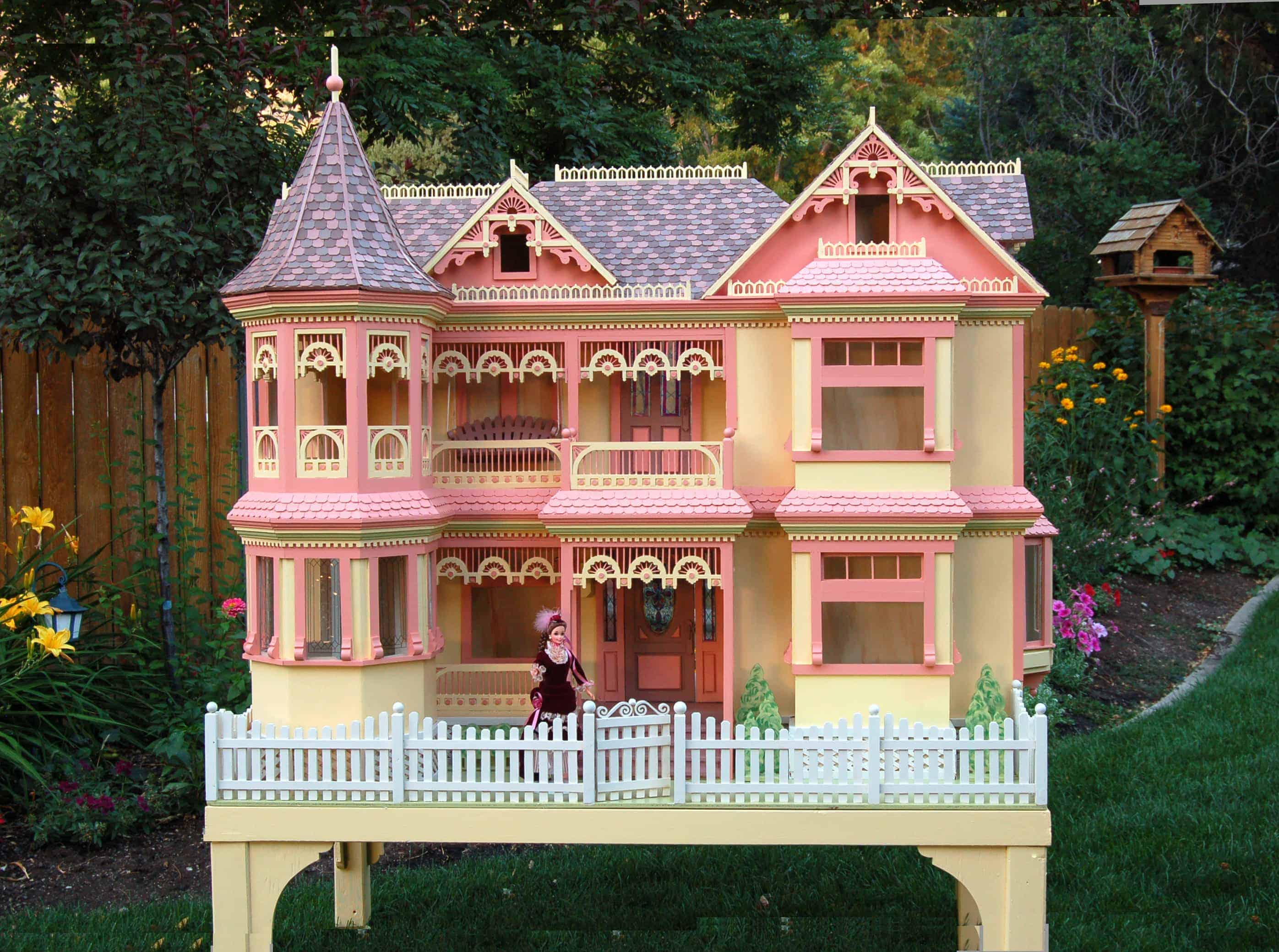 Victorian barbie house woodworking plan forest street Victorian house front