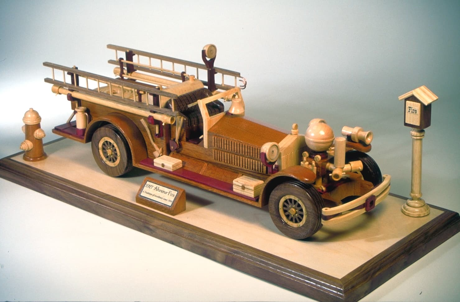 1827 Firetruck In Wood Great For The Firestation Or Home