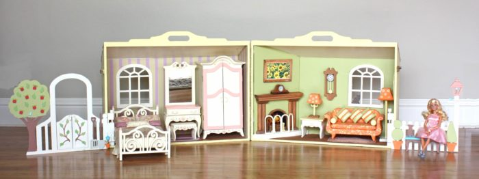 Dozens of features in this spacious Barbie house wood plan