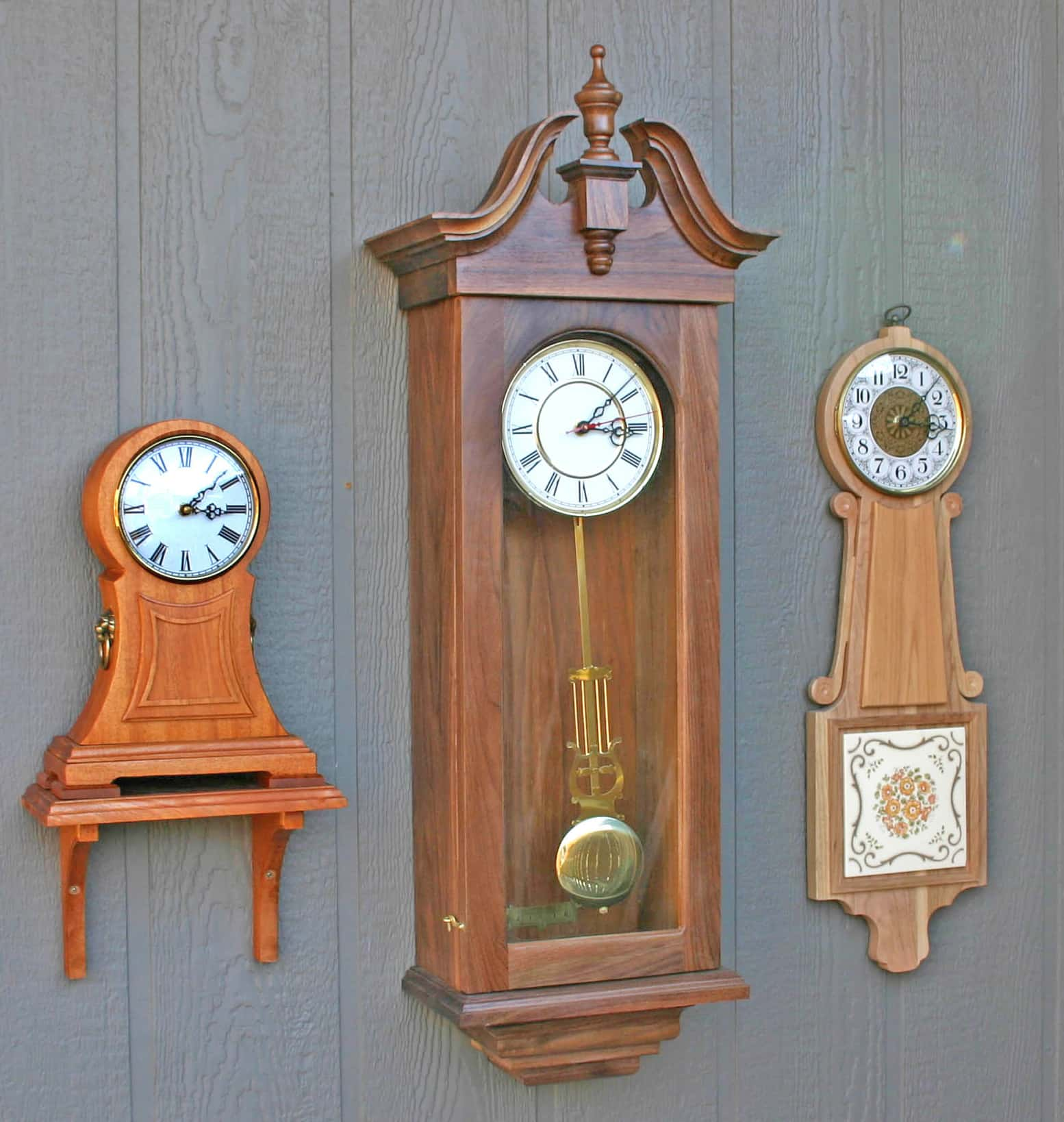 mantle clock, wall clock & banjo clock woodworking plans