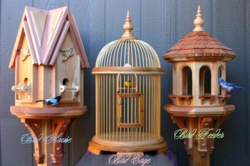Full size woodworking patterns for building bird items