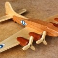 Woodworking plans for an airplane in hardwoods