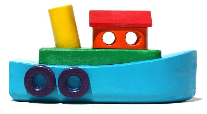 Tug boat from the First Toys wood plan package