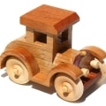 A fun wood car is easy to make by following the woodworking platterns