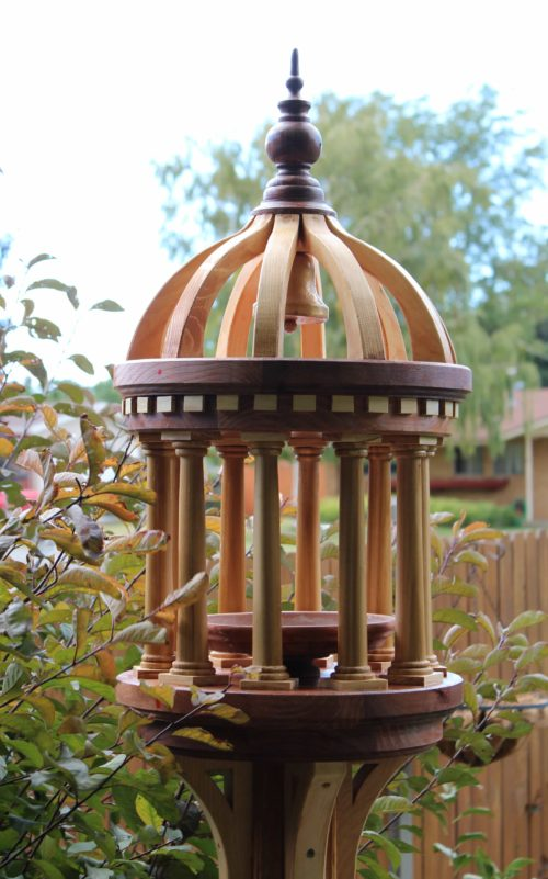 A woodworking plan to build an Italian style bird feeder