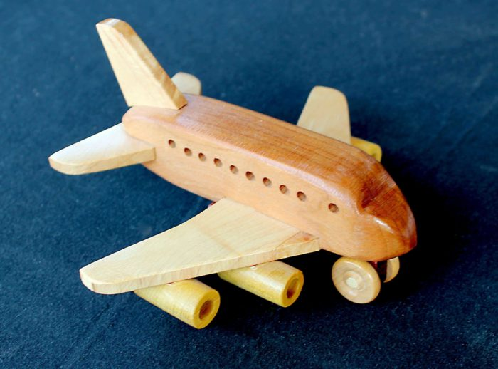 Jet airplane from the Plump'N'Tuff woodworking plan set