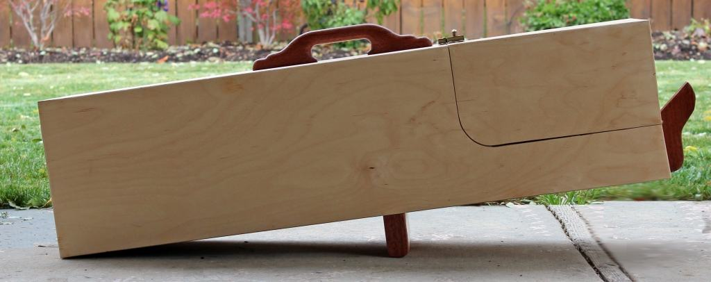 Animal trap built from a Forest Street Designs woodworkilng pattern