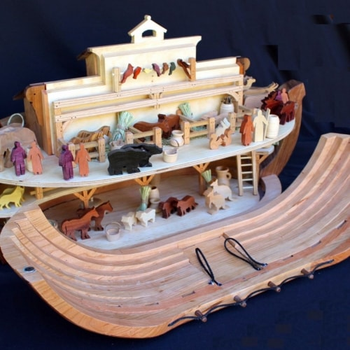 Noah's Ark interior showing many features that can be build from the plan's patterns
