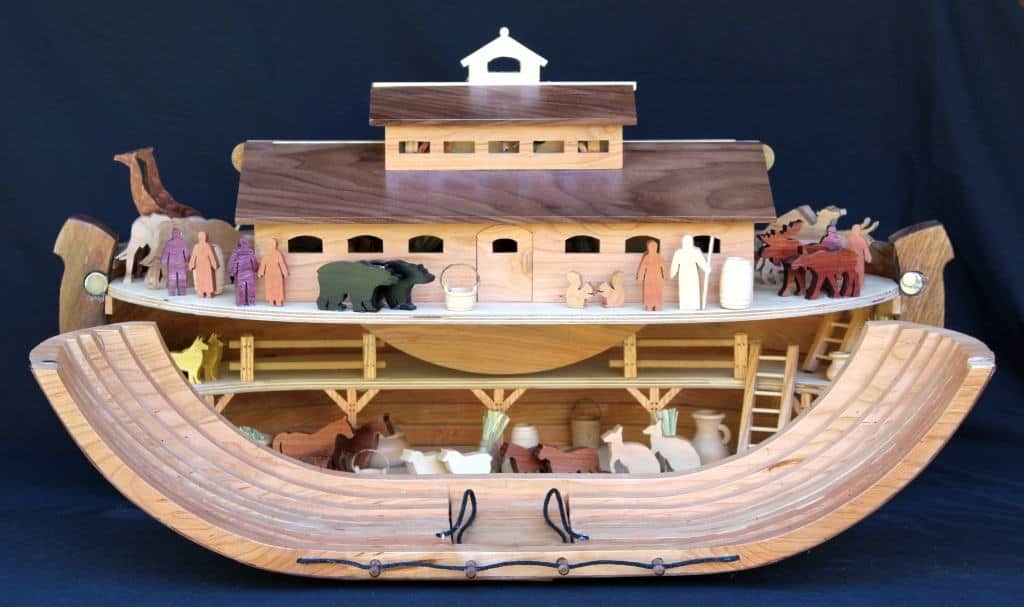 Noah's Ark Woodworking pan with dozens of patterns for building parts