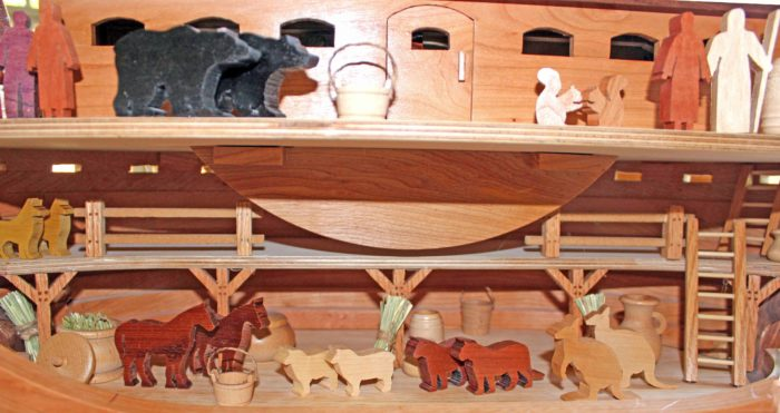 Features in the interior of Noah's Ark woodwokring plan