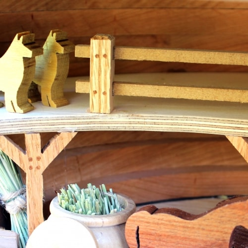 Noah's Ark interior view showing details from the woodworking plan