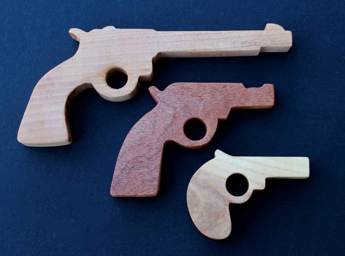 Three basic gun plans from a large woodworking plan package