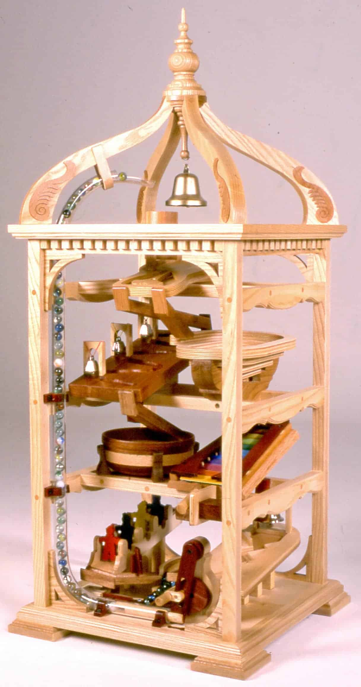 Bell Tower Marble Machine Woodworking Plan - Forest Street Designs