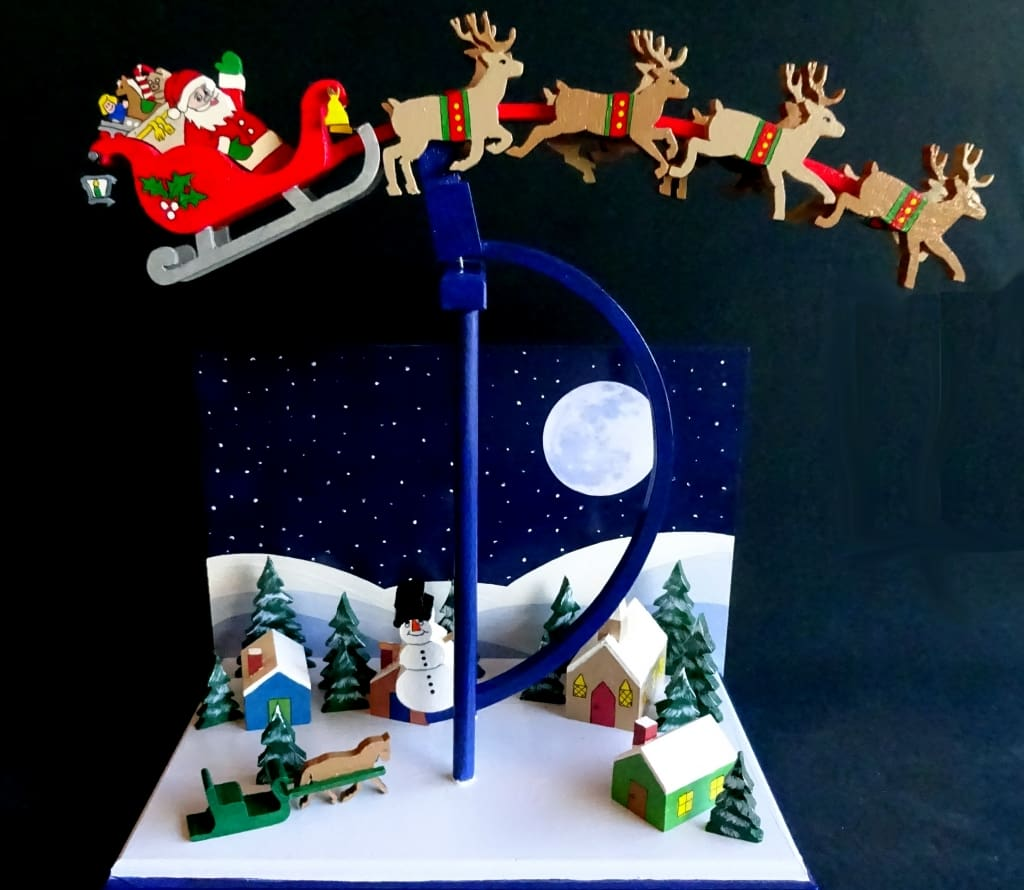 Christmas Toys Product : A woodworking plan for building christmas eve balance toy