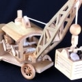 A crane with a working mechanism is a sizeable wood set