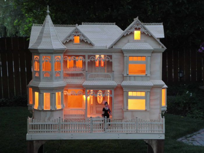 Victorian Barbie House, a leading woodworking project