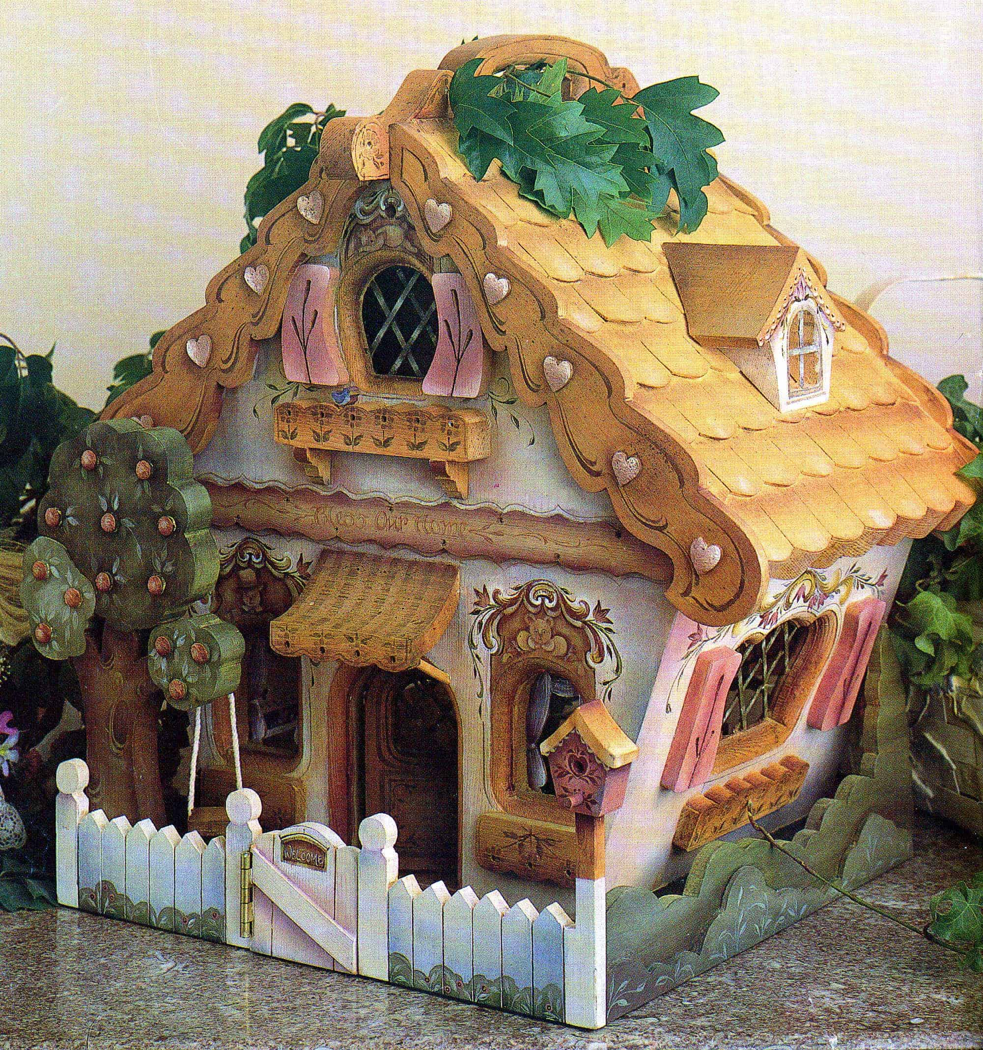 Woodworking plan for building a fun, whymsical doll house ...