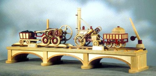 Woodwork patterns and text to build models of the first trains in England