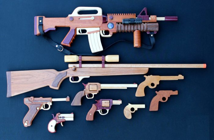Woodworking plan for building all the guns shown