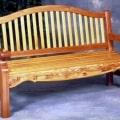 Wood Bench in wood, Redwood and Cedar, outdoor woods shown