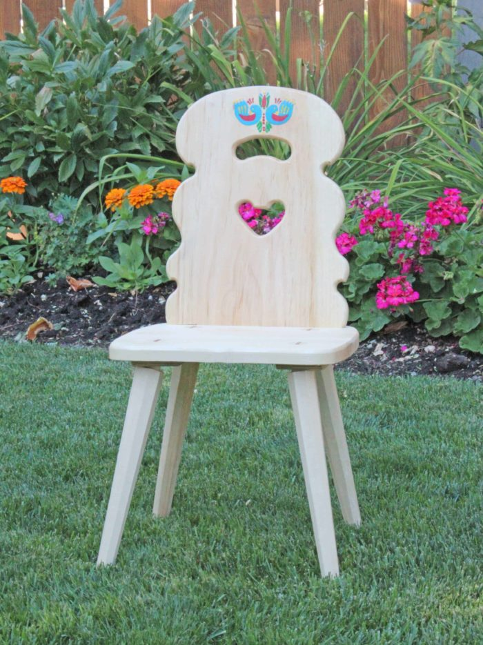 "Chair from ""Heidi"", a Shirley Temple movie favorite"