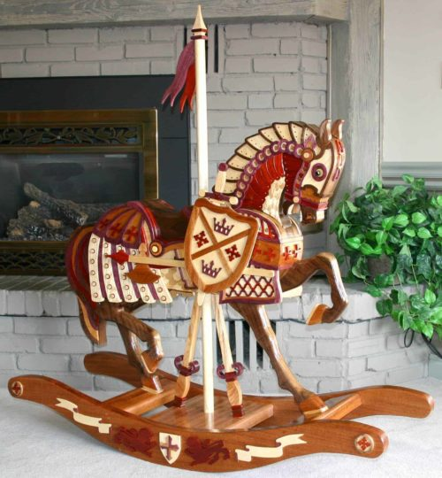 The vivid colors are all from different hardwoods, right from Knights of the Roundtable