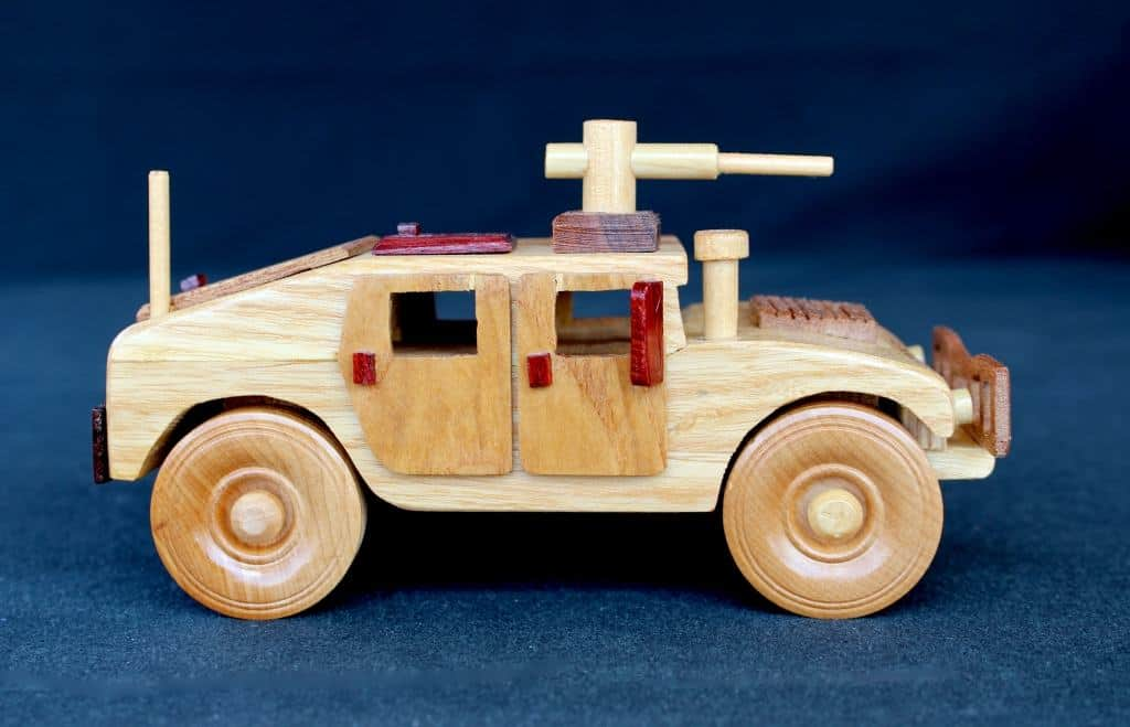 Humvee woodworking plan from the Plump'N'Tuff plan set