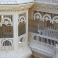 Victorian gingerbread is throughout this spacious project. Woodworking plans for these parts are full size