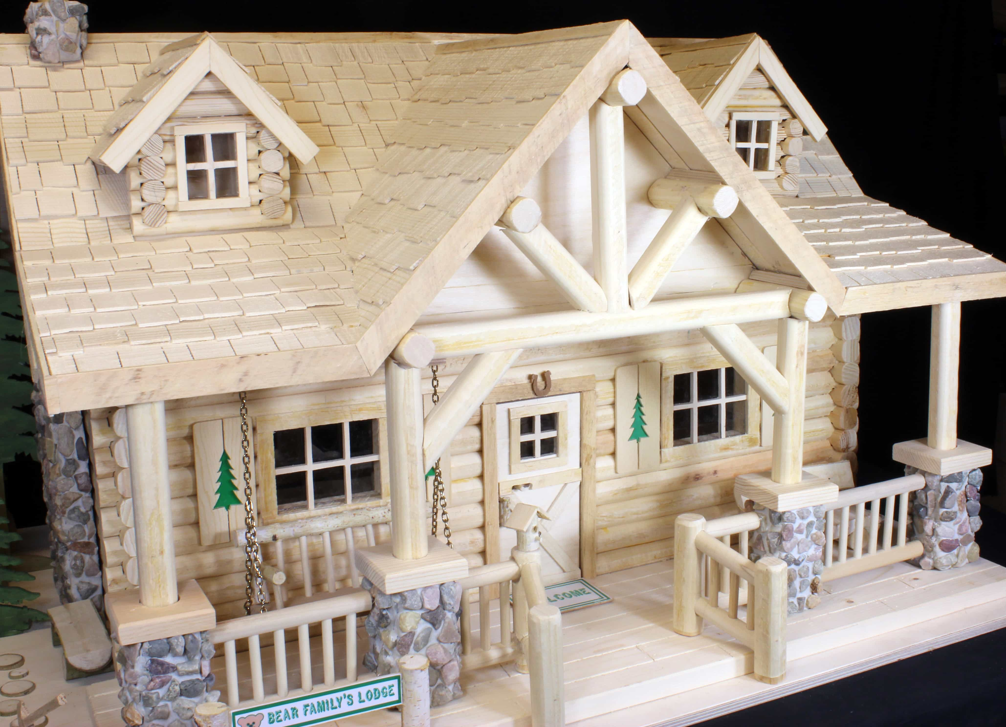 The plan details wood and rockwork, a woodworking plan package