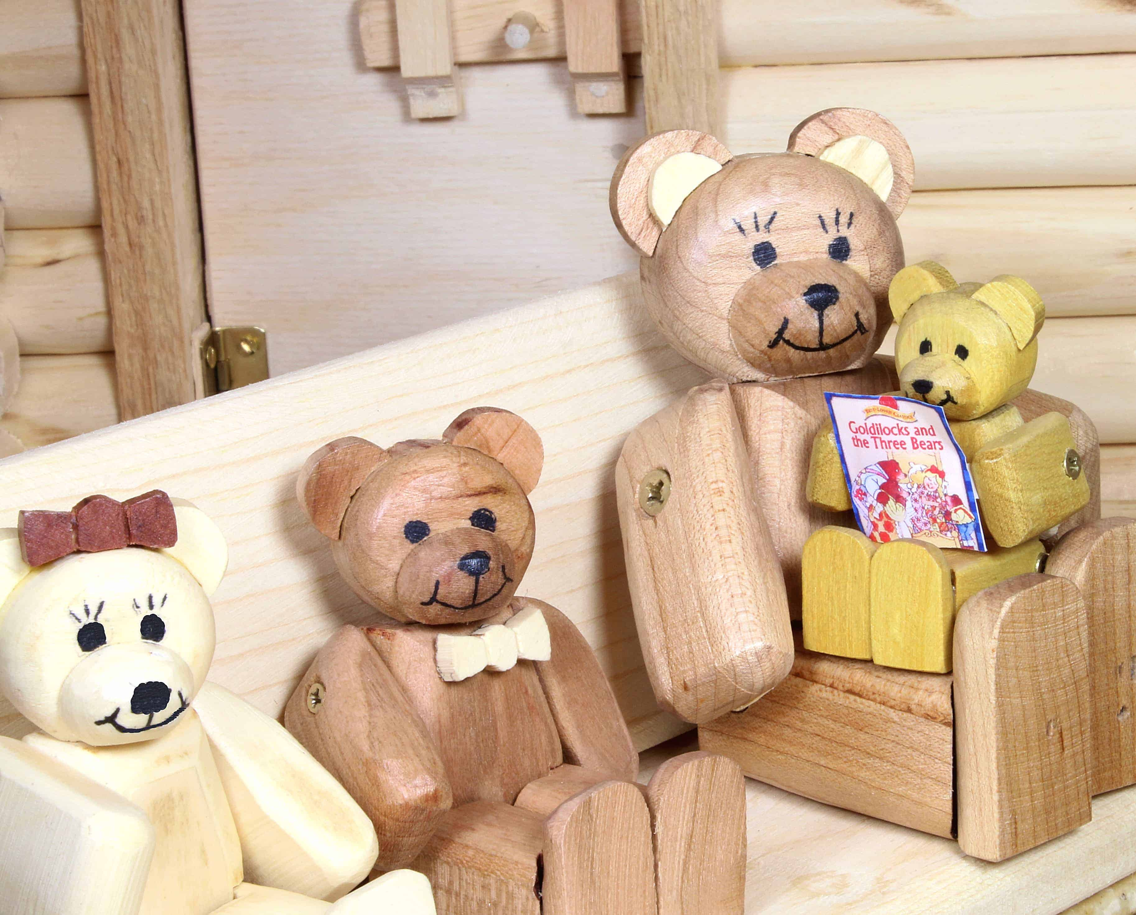 Bears arms, legs and heads move. Children adore them