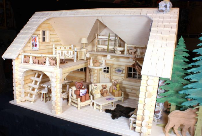Many dozens of features in the Bear Family Lodge project