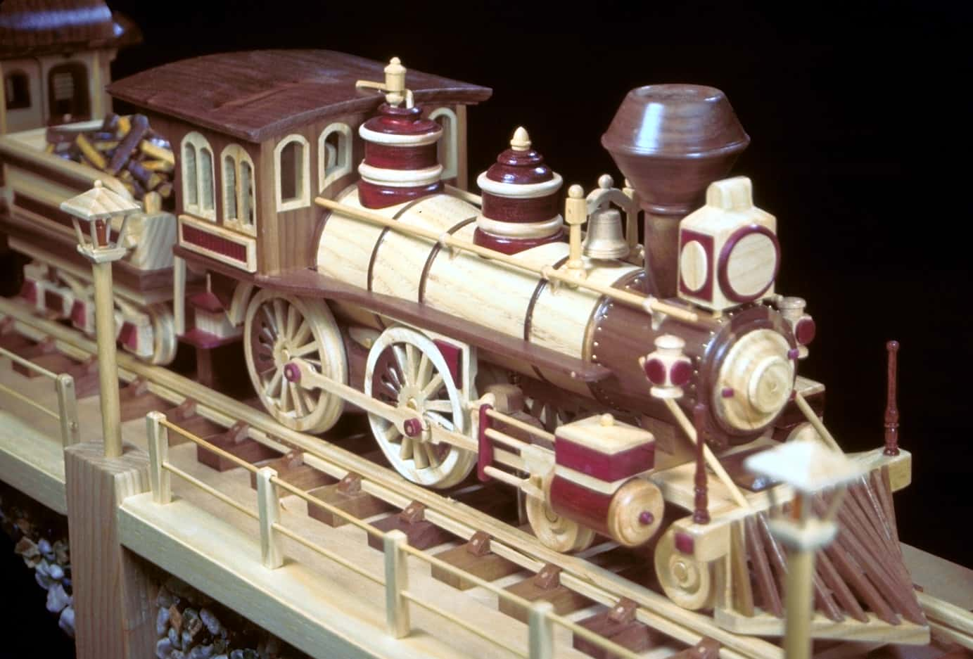 Wooden Toy Train Patterns : Iron horse train with three cars a woodworking plan from