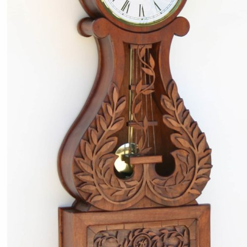 Lyre clocks are in the banjo clock family. Add a mechanical or quartz movement