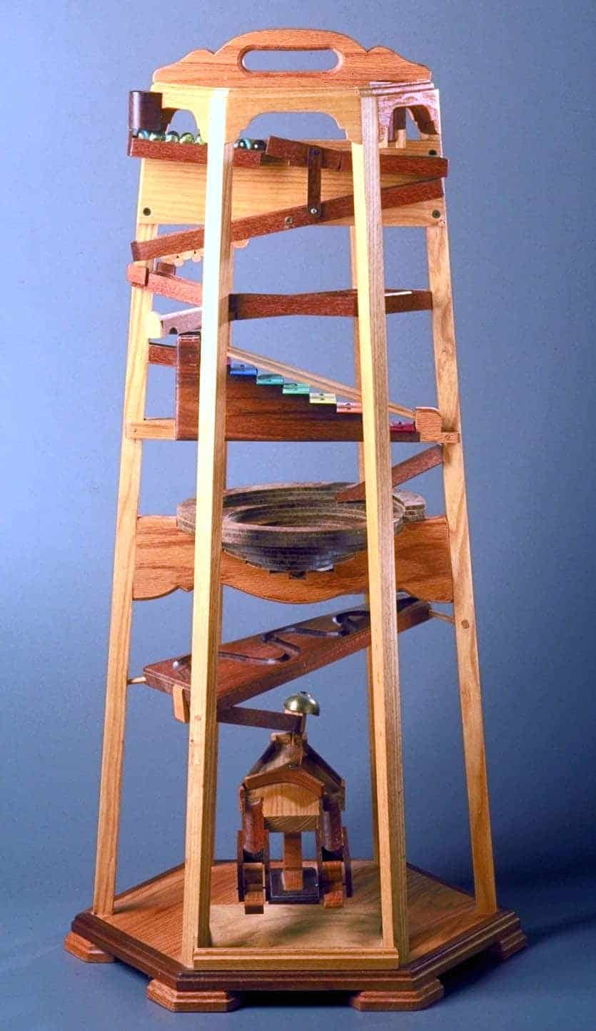 Woodworking Plan For A Marble Tower With Full Size