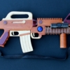 Pull-apart military weapon woodworking plan