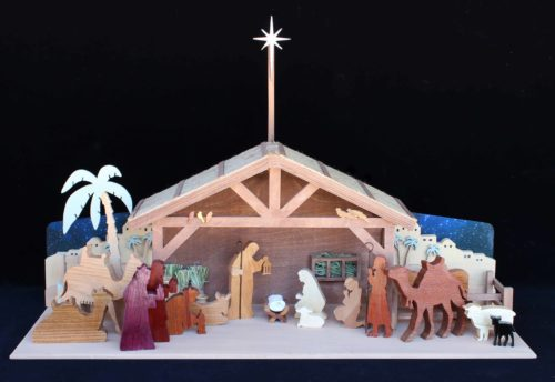 Nativity woodworking plan includes lighting instructions