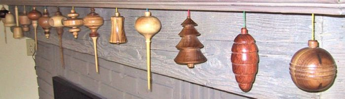 Traditional holiday turnings for the Christmas Tree or mantle
