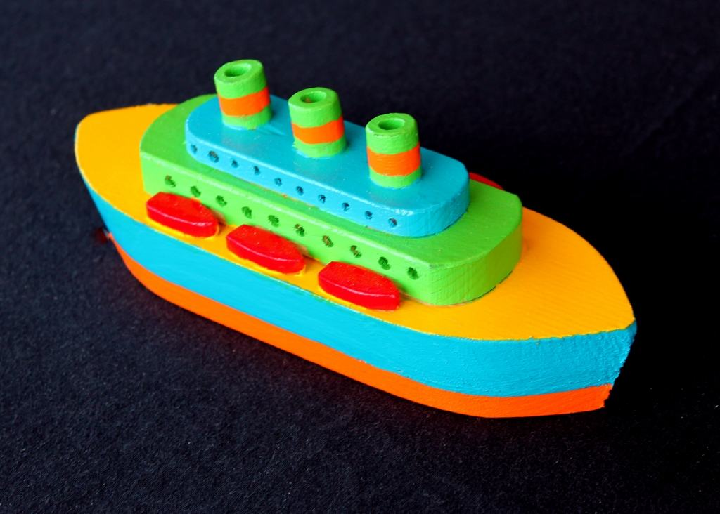 Ocean ship from the Plump'N'Tuff woodworking plan set