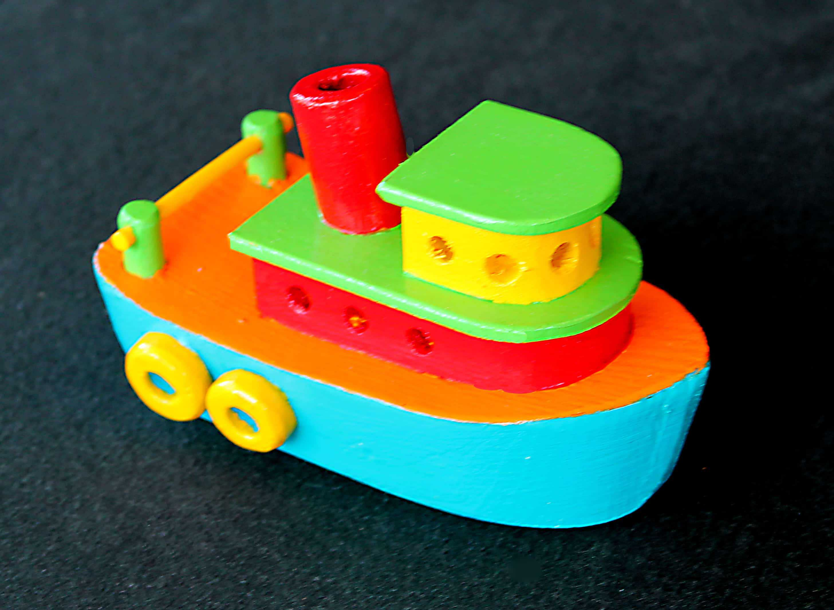 Tug boat woodworking plan, painted version