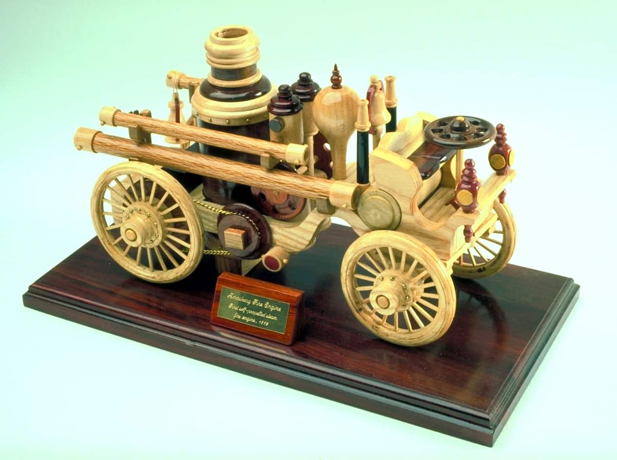 Woodworking Plan For A Wood Steam Powered Fire Engine