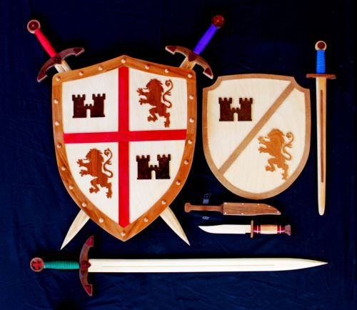 Full set of swords and shields woodworking plan group
