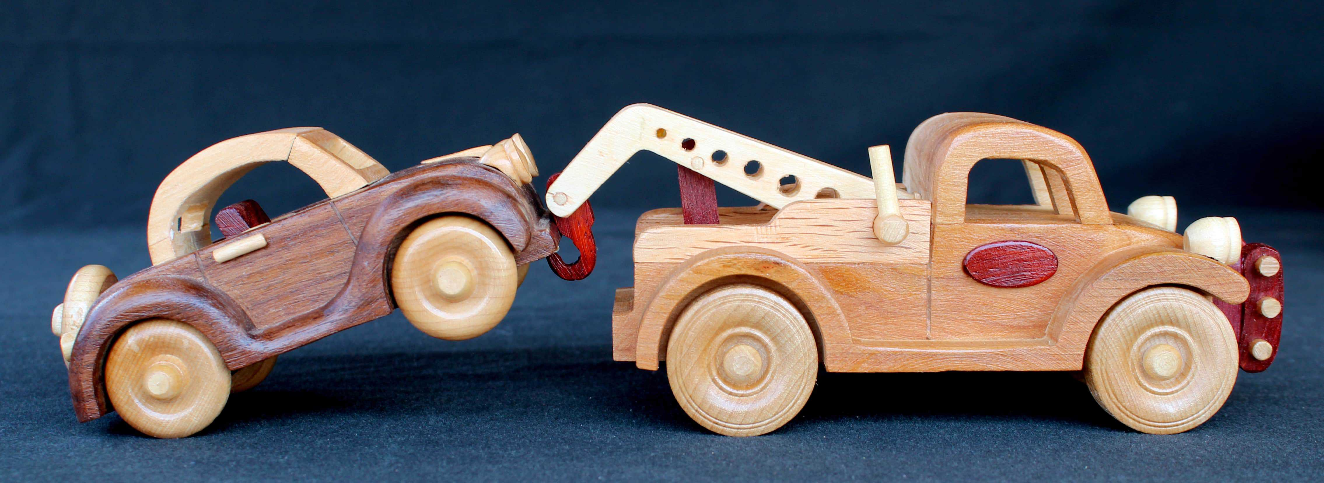 Part of a large wood plan set of vehicles woodworking plan