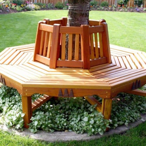 A great way to add seating to a yard or garden